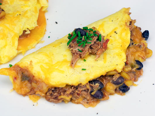 Black Bean Chili Omelette Recipe — Dishmaps
