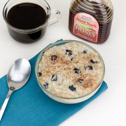 Brown Rice Hot Cereal With Blueberries