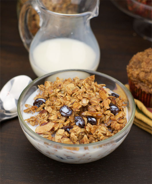 Serving of Maple Almond Granola