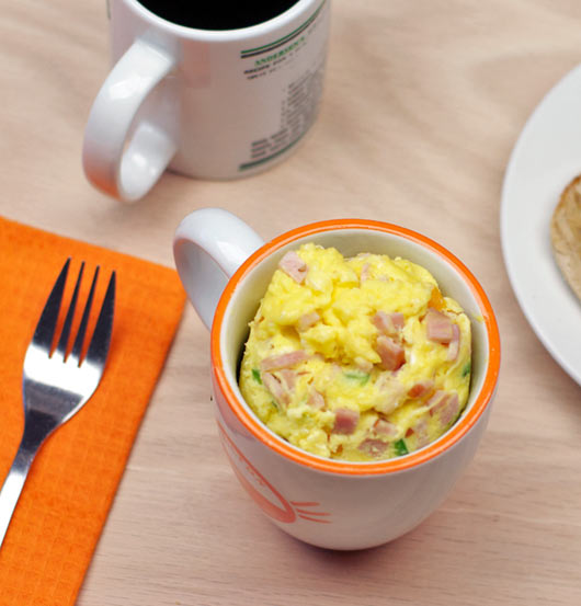 Microwave Farmers Omelet (In A Cup) Recipe