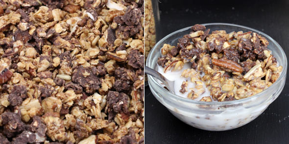 Honey Nut Granola with Chocolate Clusters