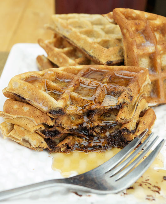 Best Chocolate Chip Waffles Recipe | MrBreakfast.com
