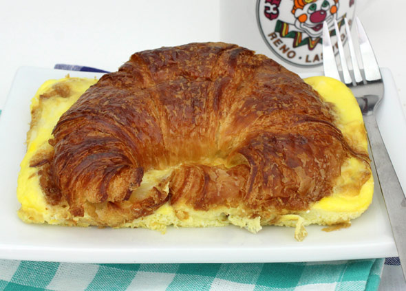 Baked Egg & Cheese Croissants