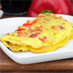 Roasted Red Pepper Omelet
