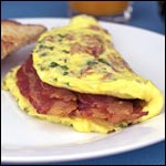 Simple Bacon Omelet