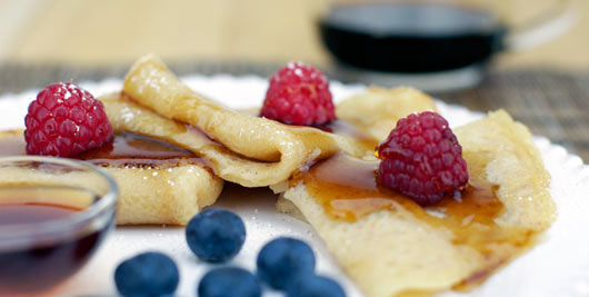Crepes Made without Eggs
