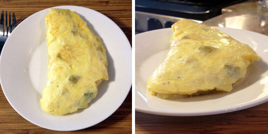 Green Chili & Cheese Omelette