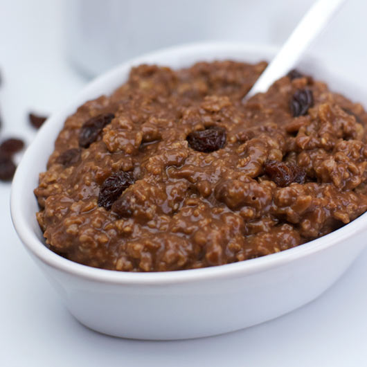 Oatmeal With Chocolate And Coffee