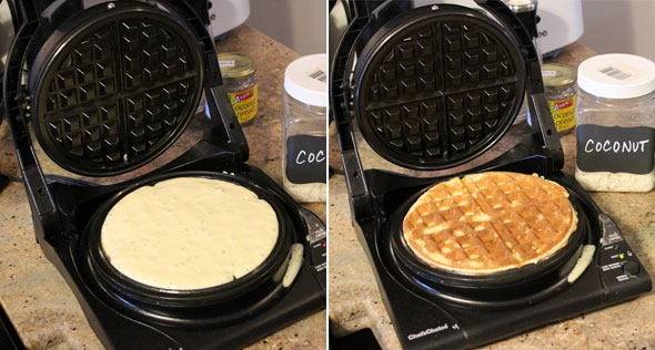 Making The Best Coconut Waffles
