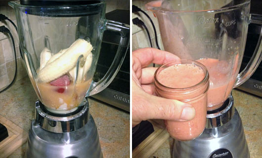 Making a Grapefruit Blast Smoothie