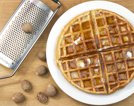 Low Fat Nutmeg Waffles