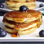 Whole Wheat Blueberry Yogurt Pancakes