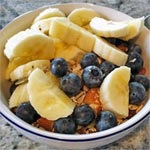 Toasted Ginger Muesli with Blueberries & Banana
