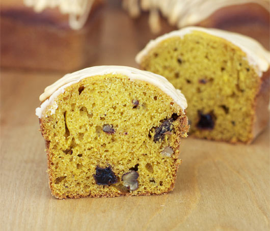 Interior of Holiday Pumpkin Bread