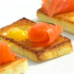Quail Egg & Smoked Salmon Toasts