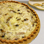 Onion, Mushroom & Swiss Cheese Quiche