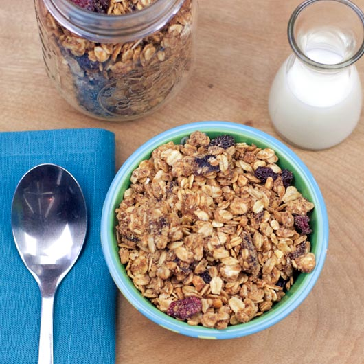 Serving of Peanut Butter & Jam Granola