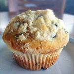 Muffin al limone ai mirtilli