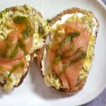 Salmon Breakfast Bruschetta