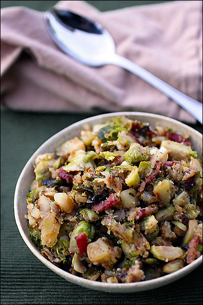 Brussels Sprout Bacon Potato Hash