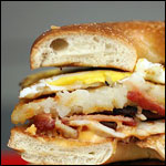 Big Bagel Breakfast Sandwich