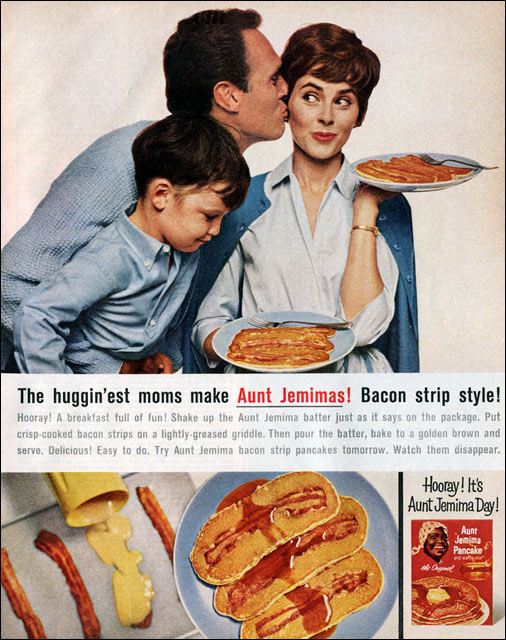 Bacon Strip Pancakes 1964 Magazine Ad