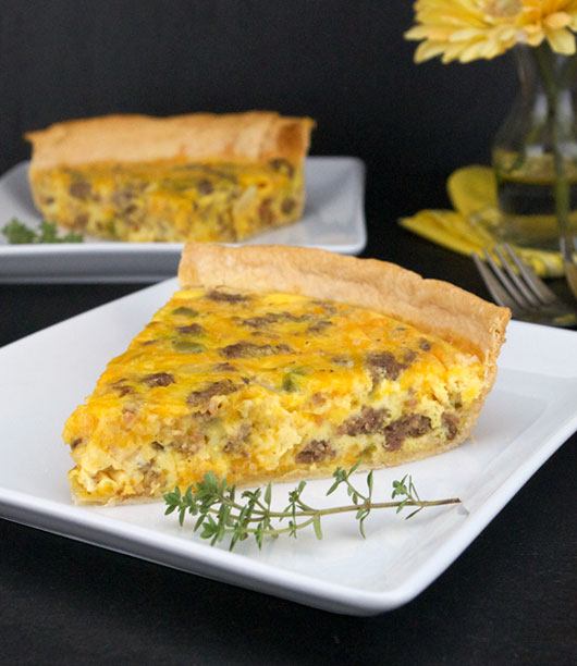 Sausage Quiche Recipe Mrbreakfast Com