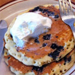 Whole Grain Blueberry Orange Pancakes
