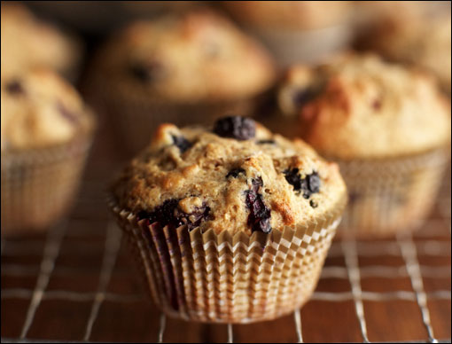 Healthy Blueberry Bran Muffins