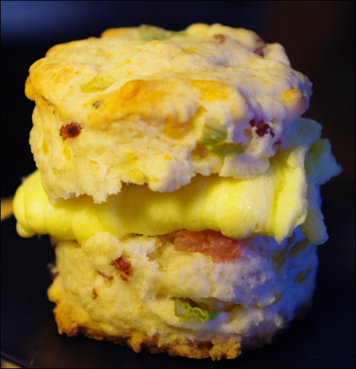 Ham & Cheese Baked In Biscuits