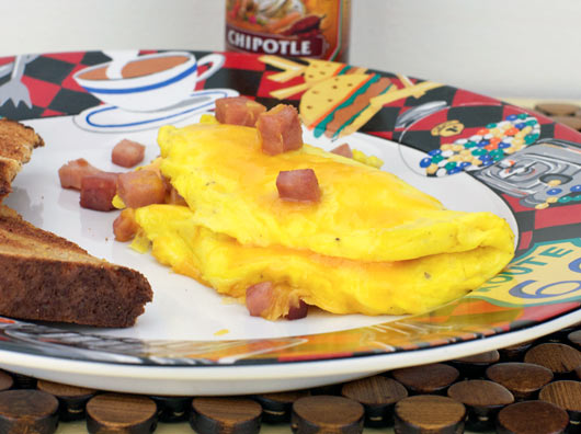 Basic Ham And Cheese Omelette