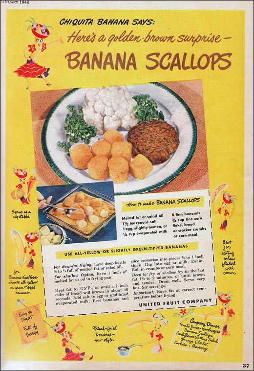 Classic Recipe: Banana Scallops