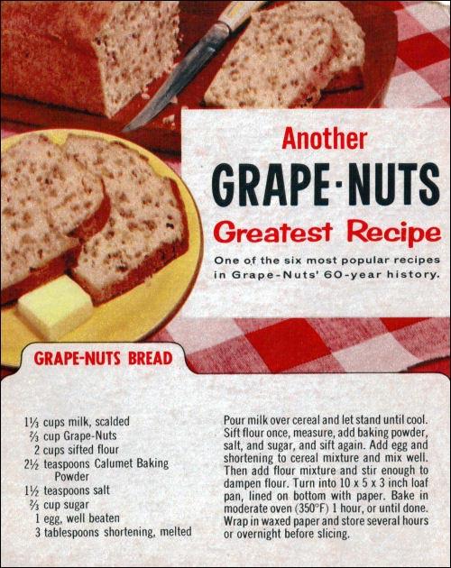 Classic Grape Nuts Bread Recipe Mrbreakfast Com