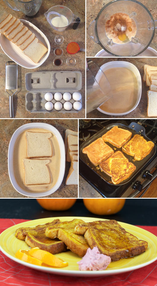 Making Pumpkin French Toast