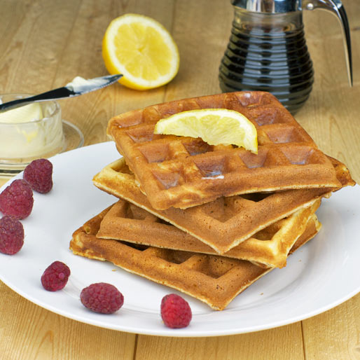 Lemon Waffles Recipe | MrBreakfast.com