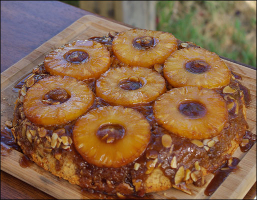 ... this Upside-Down Pineapple Coffee Cake gets an upside-right thumbs-up