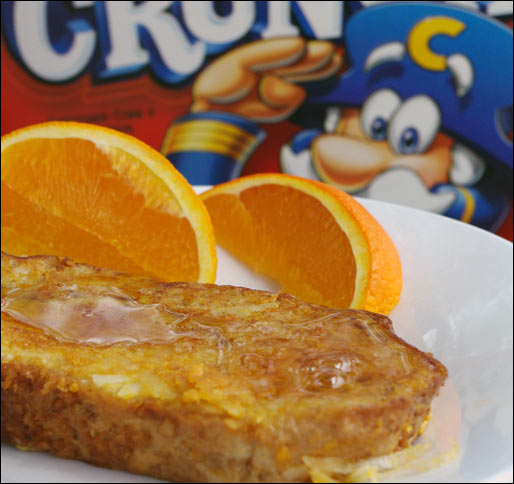 French Toast Made With Cap'n Crunch Cereal