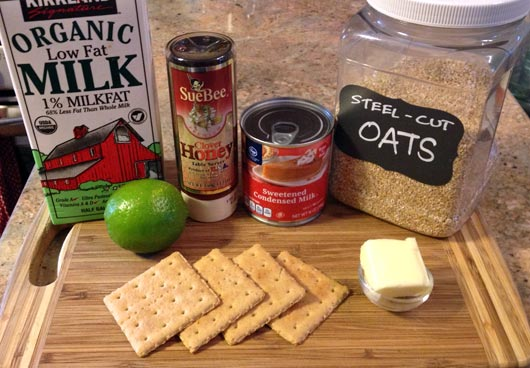 Key Lime Pie Oatmeal Ingredients
