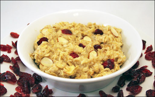 Cranberry Almond Crunch Surprise Oatmeal