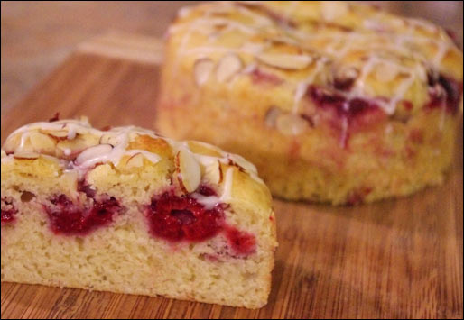 A Piece of Raspberry Cobbler Coffee Cake