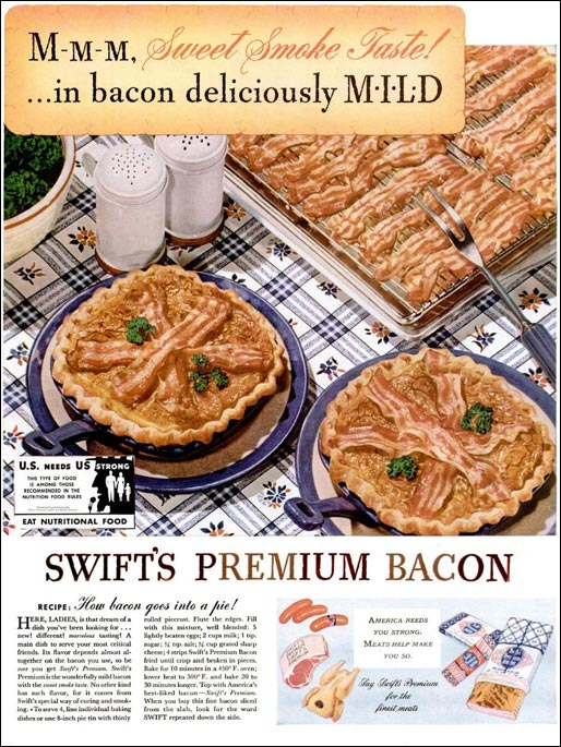 Vintage Recipe: Bacon Pie