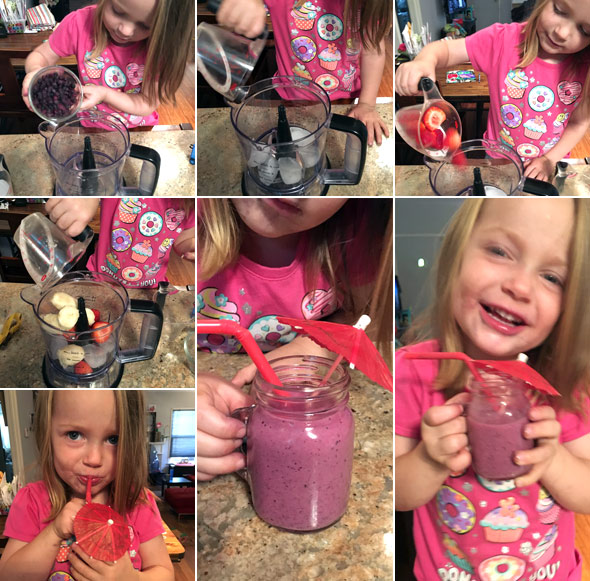 Making a Diet Banana Berry Smoothie