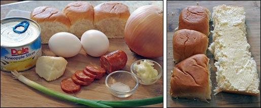 Ingredients For Hawaiian Breakfast Sliders