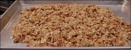 Cooking Maple Pecan Granola Clusters