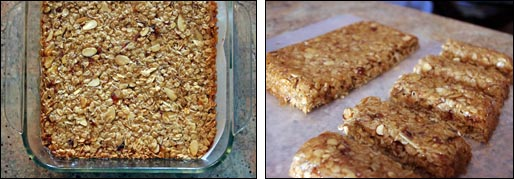 Making Chewy Almond Date Granola Bars