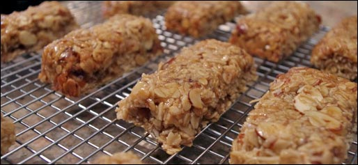 Chewy Almond Date Granola Bars - Just Cut