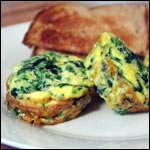 Spinach And Cheddar Mini Frittatas