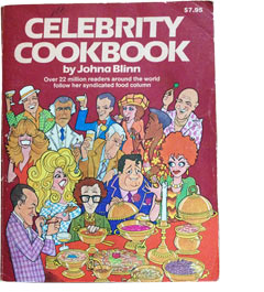 Vintage Book: Celebrity Cookbook By Johna Blinn