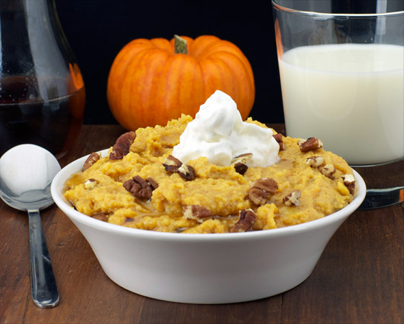 Pumpkin Pie Breakfast Polenta Recipe | MrBreakfast.com
