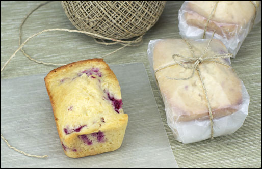 Raspberry Grapefruit Mini Breads